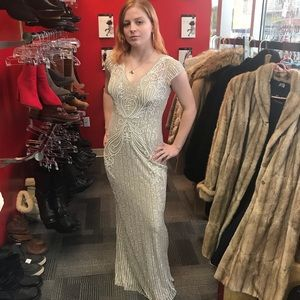 BHLDN Calais beaded gown by Anthropologie